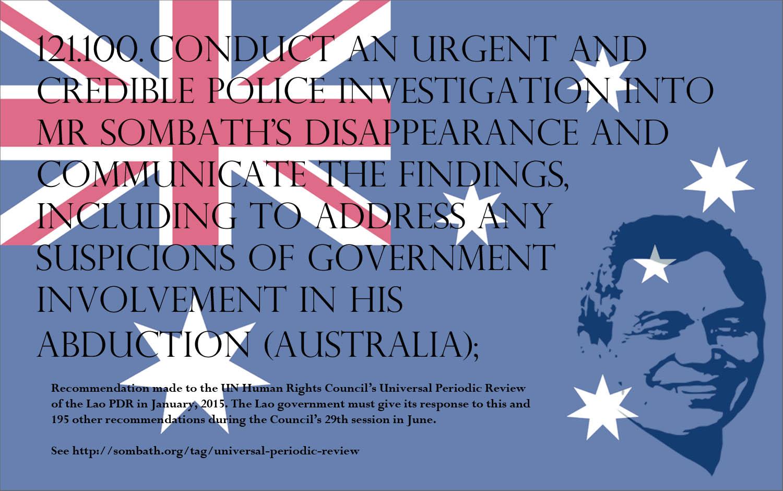Australia promises continued pressure