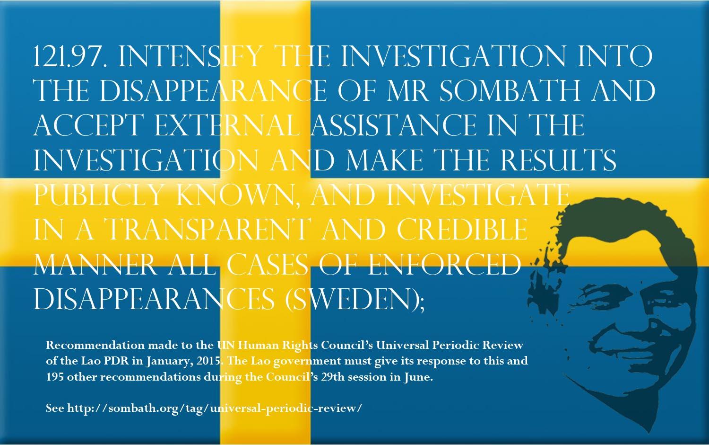 UPR Recommendation-Sweden