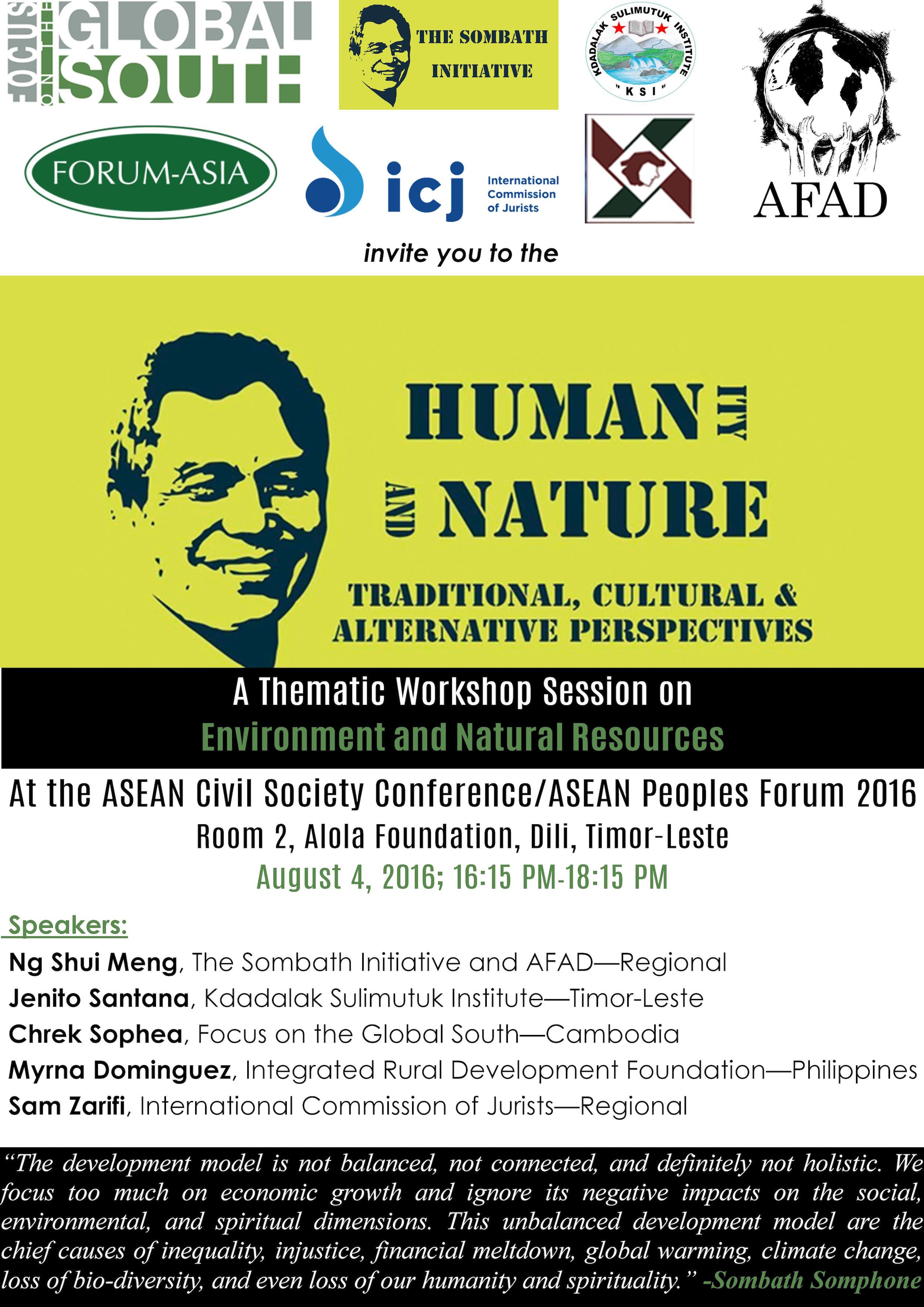Workshop on Sombath at ACSC/APF